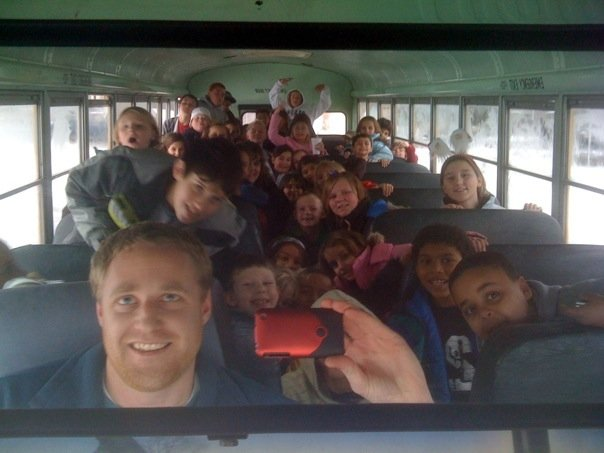 jason and a bus full of kids